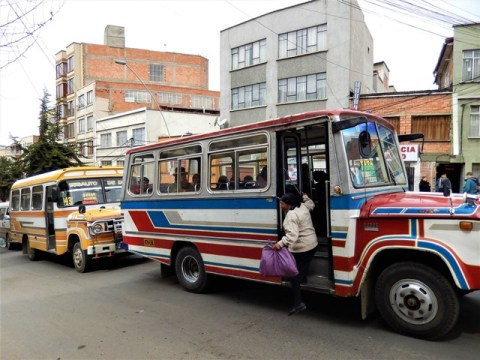 Bolivie La Paz bus