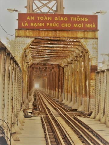 Vietnam Hanoï pont Long Biên