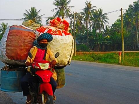 Cambodge Kampot scooter