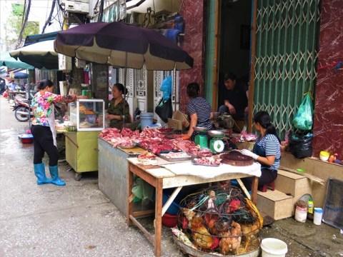 Vietnam Hanoï marché boucherie