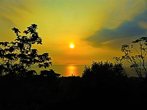 Cambodge Kep parc national coucher de soleil