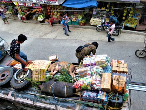 Philippines banaue jeepney marché