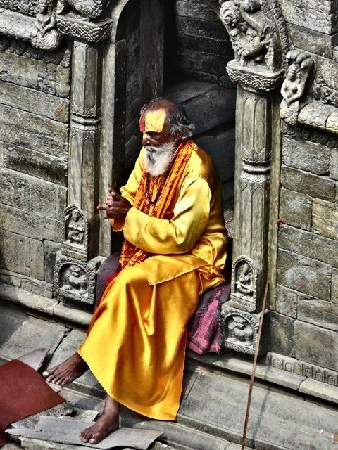 Népal Pashupatinath sâdhu