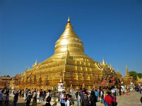 Myanmar Bagan Shwezigon Pagoda