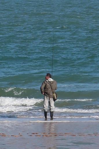Oléron plage saumonards pêche