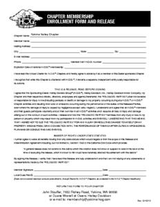 Yakima HOG Chapter Enrollment Form