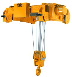 yale cable king 20 ton electric wire rope hoist 23fpm 104 lift single reeve  [ 1885 x 2023 Pixel ]