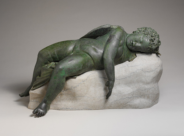 Sleeping Eros, bronze statue, 3rd-2nd century BCE