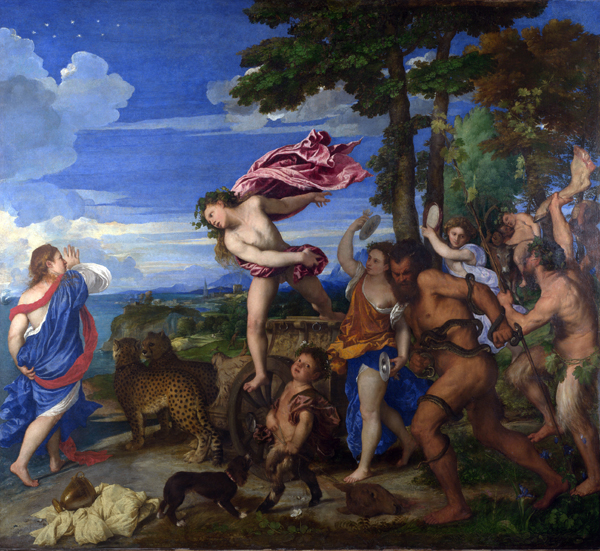 Bacchus and Ariadne, 16th century painting by Titian