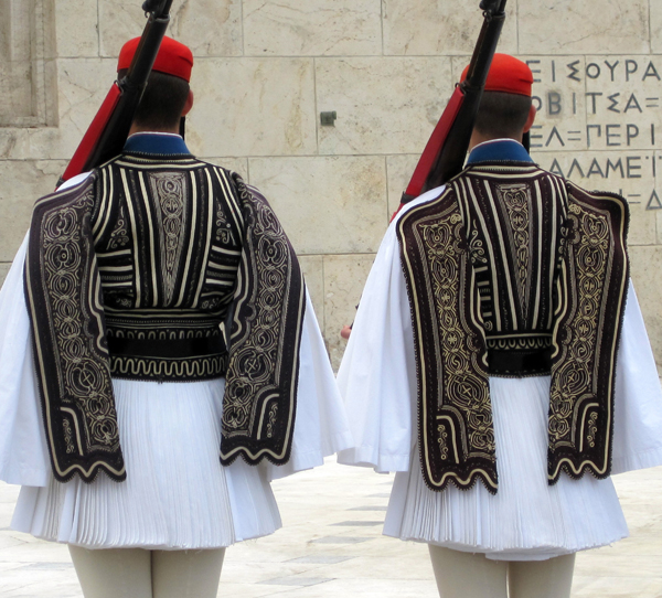 Evzones guards, Parliament building, Athens, Greece