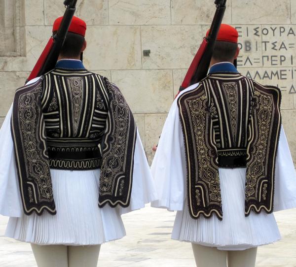 Evzones guards, Parliament building, Athens, Greece