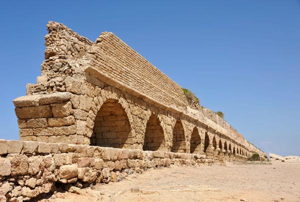 Roman aqueduct at Caesarea Maritima