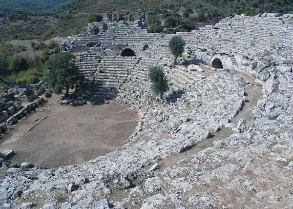 theater at Kaunos, Dalyan, Turkey