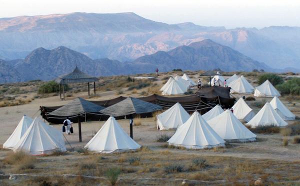 Rummana campground, Dana Biosphere Reserve