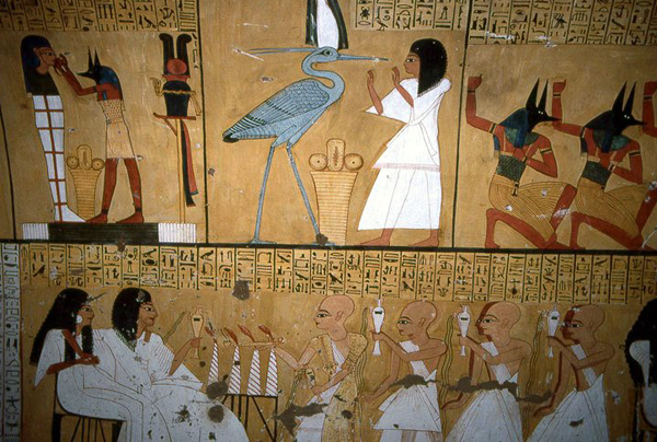 wall painting from the tomb of Inerkhau, Deir el-Medina, Egypt