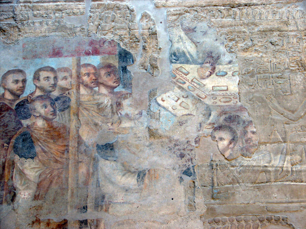 Roman fresco at Luxor Temple