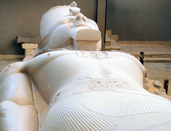 Recumbant Ramesses II, Memphis, Egypt