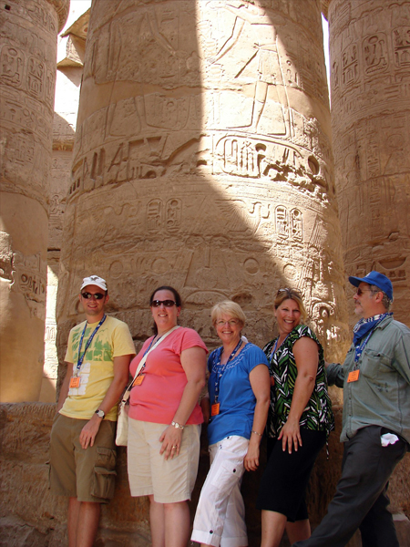 Ya'lla group at Karnak Temple in Luxor, Egypt