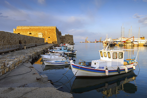 the Venetian Harbor of Heraklion, Crete