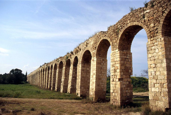 aquaduct at Akko in the western Galilee