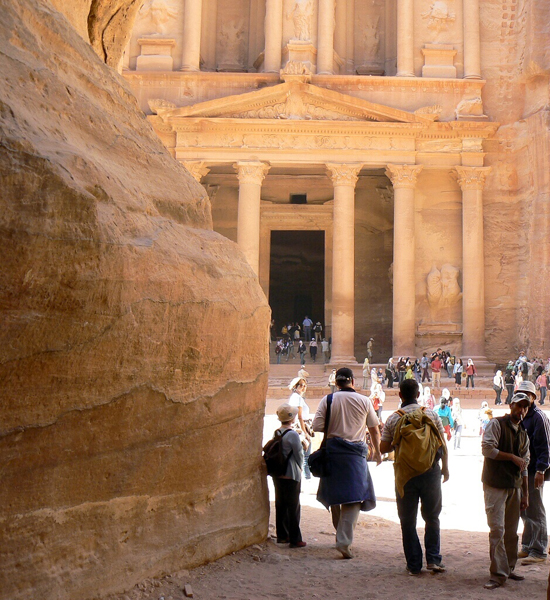 the iconic shot of Petra - the