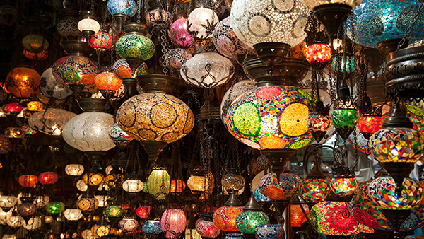 lamps in the Marrakech medina