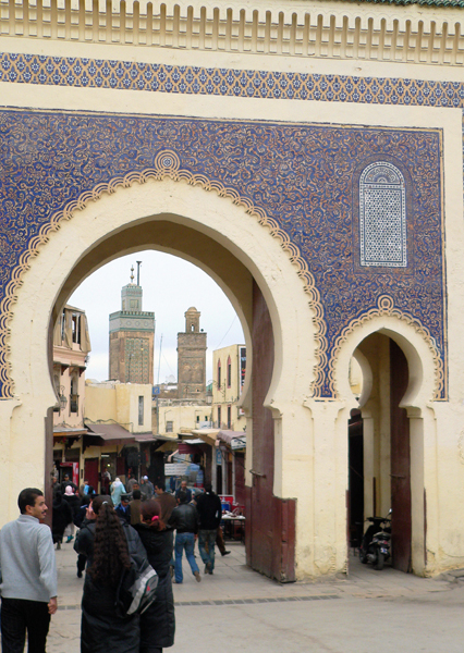 Bab Boujloud, one gateway into the old city of Fez