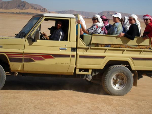 off road in Wadi Rum, Jordan