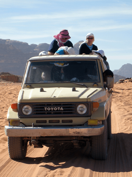 off-road in Wadi Rum, Jordan