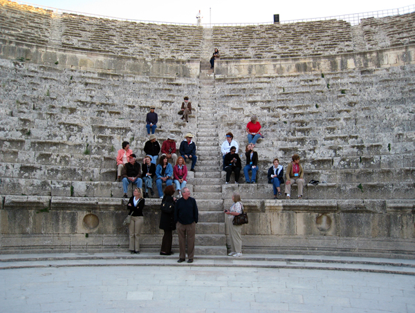 in the Roman theater of Amman, Jordan
