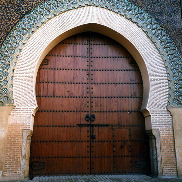 a doorway somewhere in Morocco