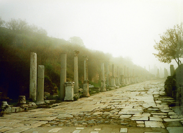 foggy day at Ephesus