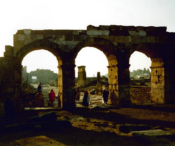 Roman ruins at Hieropolis