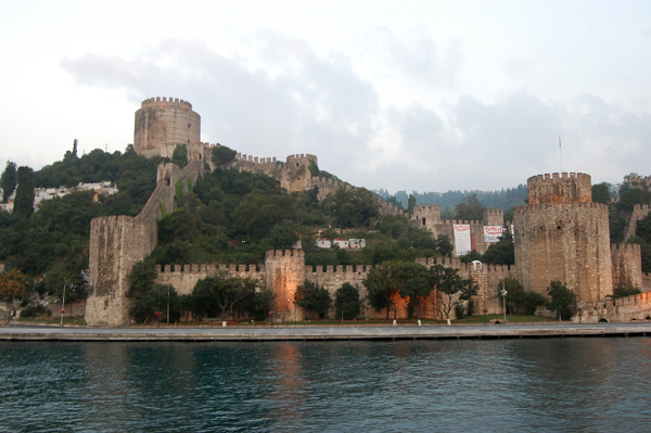 a view of the Rumelihisarı Fortress from the Bosphorus, Istanbul