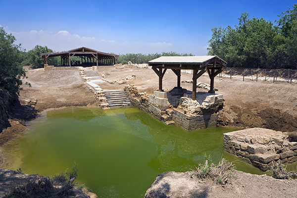 possible (likely?) site of the baptism of Jesus, with remains of a Byzantine church
