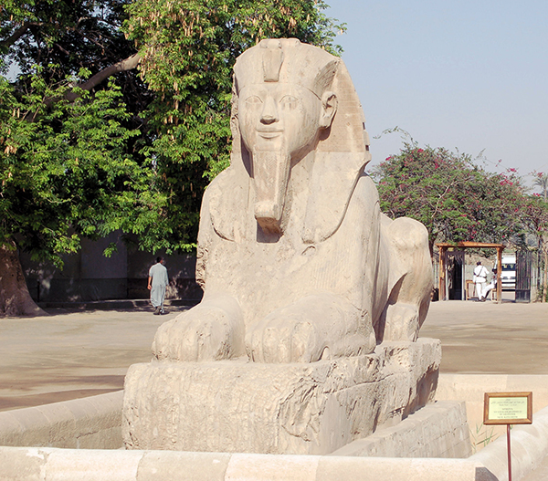 the sphinx at Memphis, Egypt