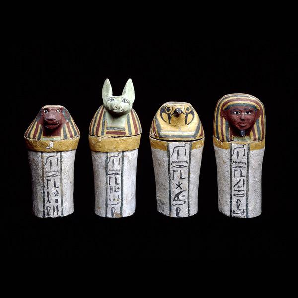 canopic jars, photo courtesy of the British Museum