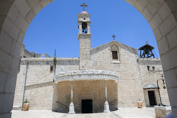 St. Gabriel Church, Nazareth, Israel, photo by Mordagan, courtesy of the Israel Ministry of Tourism