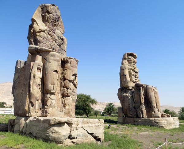 Colossi of Memnon, near Luxor, Egypt