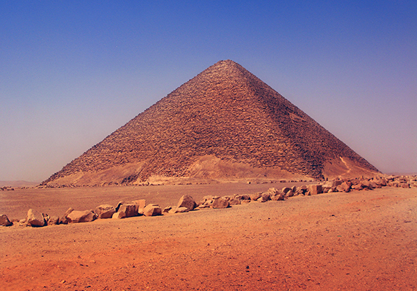 the Red Pyramid at Dahshur, Egypt