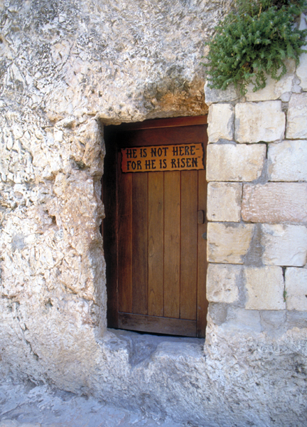 the Garden Tomb in Jerusalem, where many believe Jesus was buried and resurrected