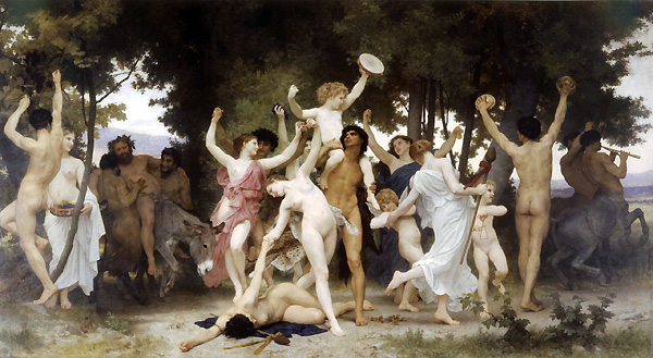 La Jeunesse de Bacchus by William Bouquereau, 1884