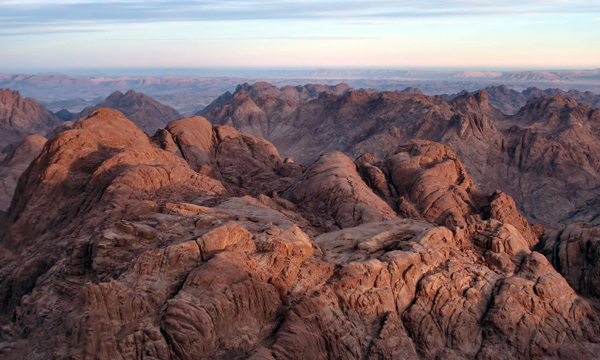 the Sinai Peninsula, where the Israelites wandered for 40 years after leaving Egypt