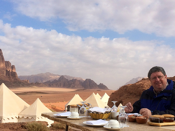 Ronen at a Bedouin camp in Wadi Rum.