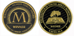 Seals for the YALSA Morris Award and Excellence in Nonfiction Award