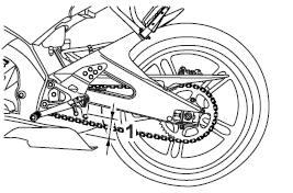 Yamaha YZF-R125 Owners Manual: Drive chain slack