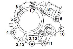 Yamaha YZF-R125 Service Manual: Engine tightening torques