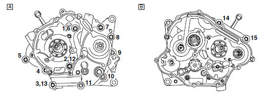 Yamaha YZF-R125 Service Manual: Engine tightening torques