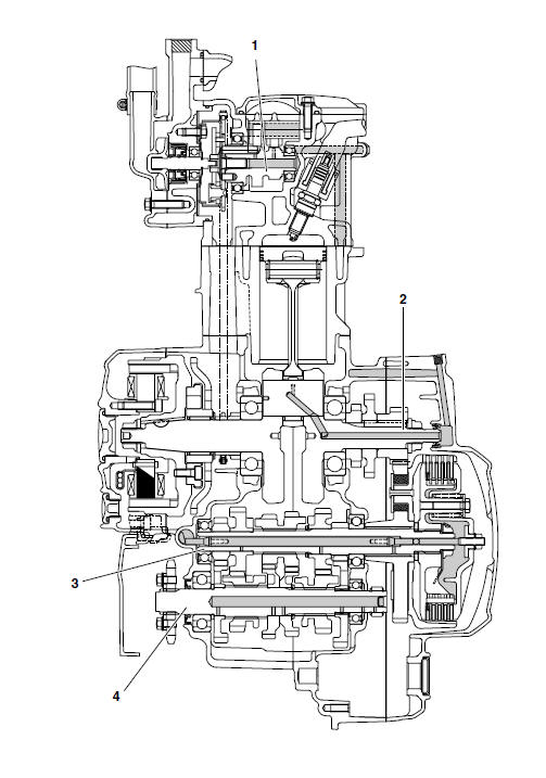 Yamaha YZF-R125 Service Manual: Lubrication diagrams