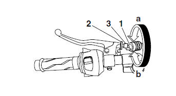 Yamaha YZF-R125 Service Manual: Adjusting the clutch cable